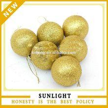 china supplier diameter 10cm plastic christmas ball for tree hanging ornament