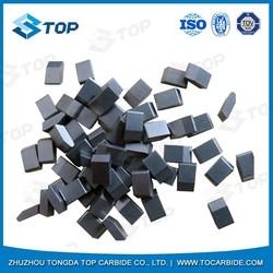Zhuzhou TOP tungsten carbide saw tips/tungsten carbide tips/tungsten carbide brazed tips for wood cutting
