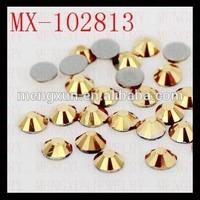ss3 gold color crystal hotfix rhinestone,rhinestone crystals clothing accessories