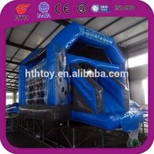 Frozen inflatable castle with slide for kids trampoline park