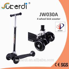 EN71 approved height adjustable four wheeled kids kick folding scooter dealer