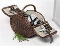 природных& коричневые овальные формы тирс плетеные корзинки для пикника с подкладкой и столовые приборы