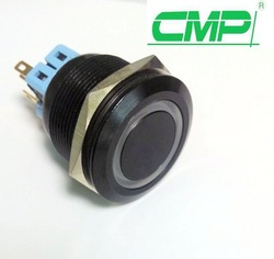 CMP waterproof illuminated metal 12v Car push engine start button black
