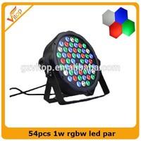 2014 Newest Product on China Market 54pcs* 1w Rgbw Quad Led Dj/Disco /Club /Stage Par Lighting