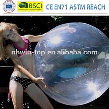 """48"""" 1 Color Crystal Clear Beach Ball"""