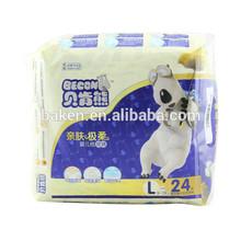 baby print diaper, hot air topsheet baby diaper