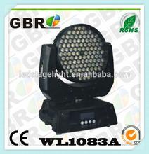 2014!new 3w*108pcs led moving head wash light GBR 3w*108 led moving head wash light OEM,dj,club