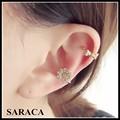 coreano earcuff floco de neve de cristal star ear cuff brincos a885