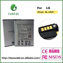 BL-59UH 3.8v 2440mah gb/t 18287-2000 battery for lg G2 mini d610 d618 d620 d620r aa battery verified supplier