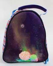 Custom printed insulated tote neoprene cooler lunch bag