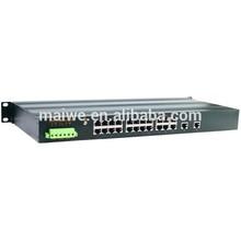 10/100Mbps Fast High performance managed 16 24 Port industrial ethernet Switch 48v