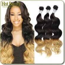 Hot Beauty Hair Peruvian Brazilian Body Wave Hair,Wholesale Unprocessed Human Ombre Hair Weaves, Brazilian Virgin Hair Extention
