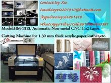 Hm-1313 cnc co2 acrilico macchina per incisione laser/etichetta/artigianato delle attrezzature per fabbricare