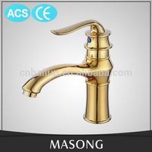 ACS, CE classical design golden brass China faucet