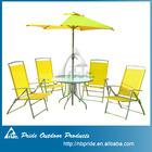 Steel patio set