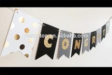 Custom Gold Glitter Banner baby shower favors Wedding party decoration