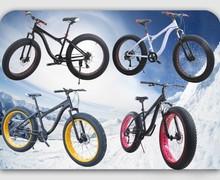 "2014 New for shimano Groupset mountain bike 19"" Fat Tire Bike Fatboy Bicycle Big Tire Snow Bike White with Orange Rim"