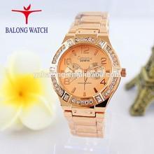 2014 geneva golden men watches men's rose gold watch