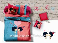 Woven Technics and Comforter Set Type 3d bed linen, home textile set , children home textile