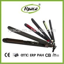 RYACA hot selling temperature adjustable ceramic coating floating plate hair straightener BY-606