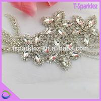 cheap price flat back crystal rhinestone flower design embellishment for women