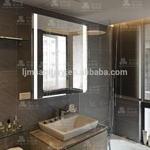 Luxury diamond ip44 waterproof led dressing room backlit mirror