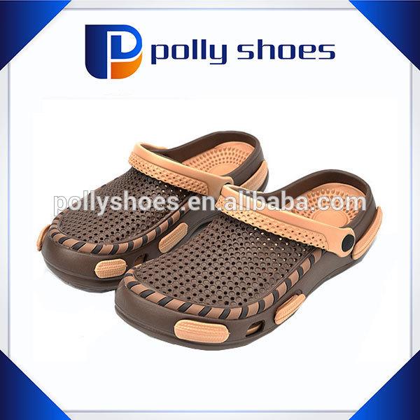 Breathable comfortable double color garden shoes men eva clogs 2014