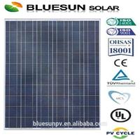 TUV CE ISO full certified 25years warranty Bluesun brand polycrystalline silicon 250w solar panel backsheet