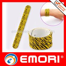 new popular colorful promoational printed slap hand bands