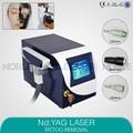 Q switched Nd Yag laser sobrancelha purificação máquina de remoção de tatuagem