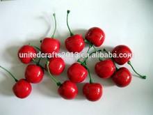 Wholesale factory high imitation cherry artificial fruit decoration