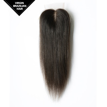 VV Factory Unprocessed Remy Extensions Nature Color Brazilian Straight Virgin Hair Silk Base Free Part Closure