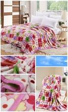 2014 hot wholesale 100% cotton soft blankets from turkey heat blanket