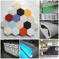 PMMA Acrylic SGS Approved Corian Materials 20mm Solid Surface