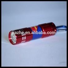 Ningbo Promotional Superman 9 LED Flashlight torch