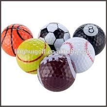 2014 different sports ball pattern golf ball