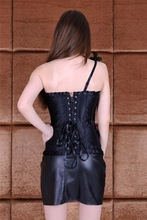 In stock items Spandex/Polyester Material sexy green corsets and bustiers