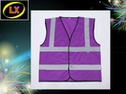 Purple High Visibility Reflective Safety Vest