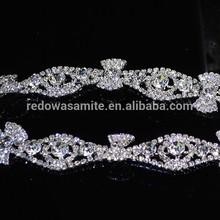 September 2014 bridal rhinestone belt sash for wedding dress