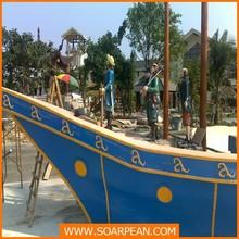 Park Used Fiberglass Decorative Pirate Ship