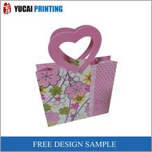 Pink Flower Paper Gift Shopping Bag