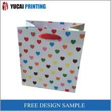 Green Flower Paper Gift Shopping Bag