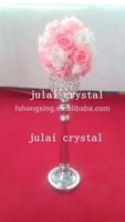 Tall Wholesale crystal Wedding Candelabra Golden Plated Centerpiece flower stand