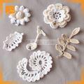 crochet do laço padrões de flor de tule bordado em tecido