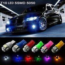 Top selling super brightness T10 LED License/side/Interior Light 194 168 w5w t10 led 5050 5 SMD