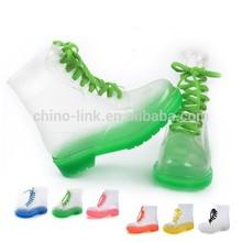 Transparent pvc material cheap rain boot for women cheap