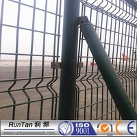 50x200mm beautiful pvc coated 3d curved wire mesh fence