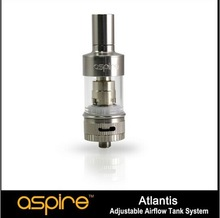 2014 new Upper hardware Stainless Steel Aspire atlantis vaporizer with carving logo