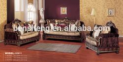 S2811 Luxury sofa furniture, living room sofa design, home furniture wood frame