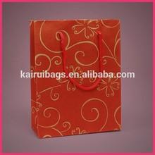 popular fancy hot stamping christmas paper packaging bag